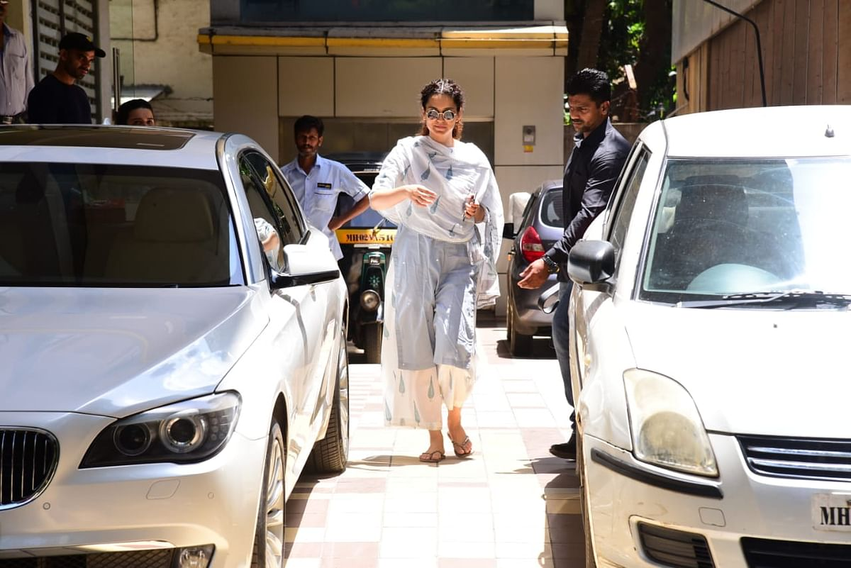 Kangana Ranaut spotted after her practice sessions in the city.