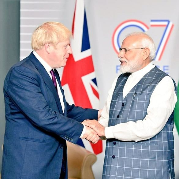 PM Narendra Modi meets Boris Johnson on G7 Summit sidelines, agree to further India-UK bilateral ties