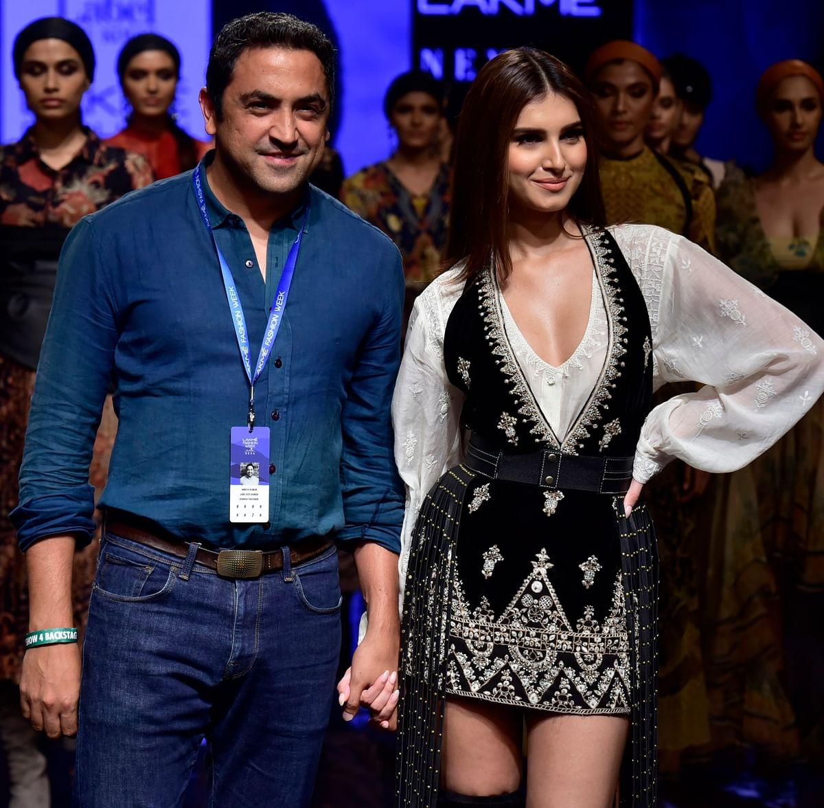 Tara Sutaria walked the ramp for the label Ritu Kumar