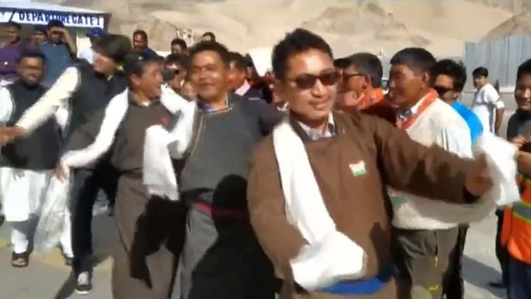 Watch: Ladakh MP Jamyang Namgyal impresses again with dance moves during Independence Day celebrations