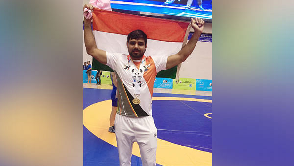Assistant-Sub-Inspector of Haryana Police Manjit, won gold medal in wrestling