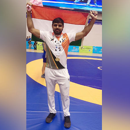 Haryana Assistant-Sub-Inspector wins gold in wrestling at WPFG held in China