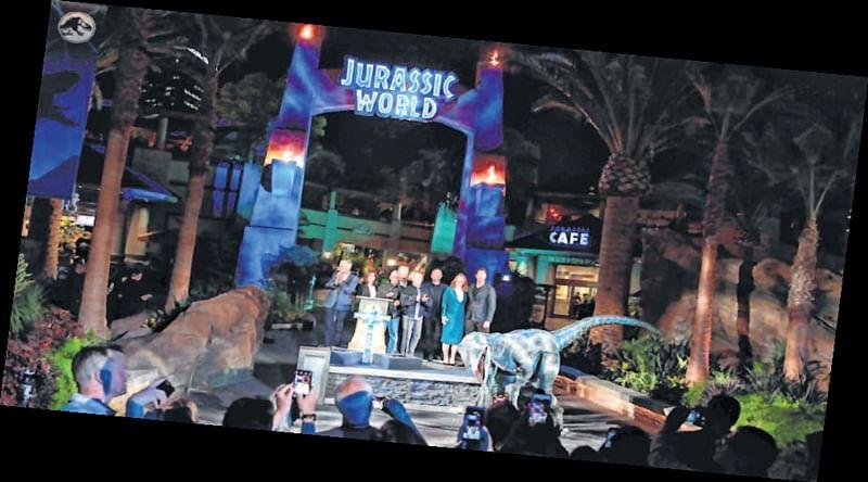 "Universal Studios Hollywood opens ""Jurassic World—The Ride"""