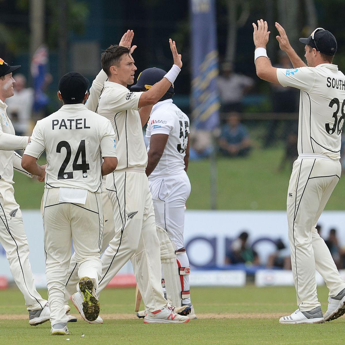 Trent Boult, Tim Southee rattle Sri Lanka in rain-hit Test match