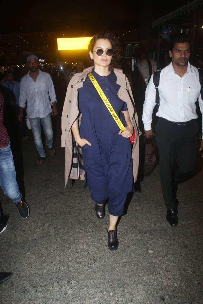 Kangana Ranaut also headed to the airport. Uravshi Rautela was also snapped at airport midnight.