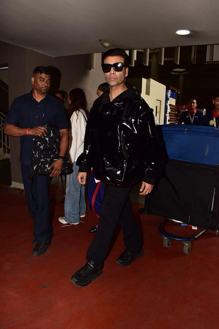 Karan Johar returned back to Mumbai on Monday after visit Australia for the Indian Film Festival of Melbourne