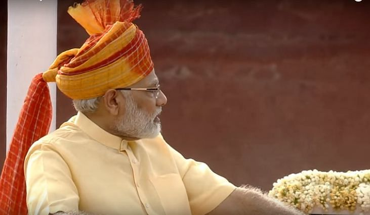 PM Narendra Modi continues turban tradition for first Independence Day address