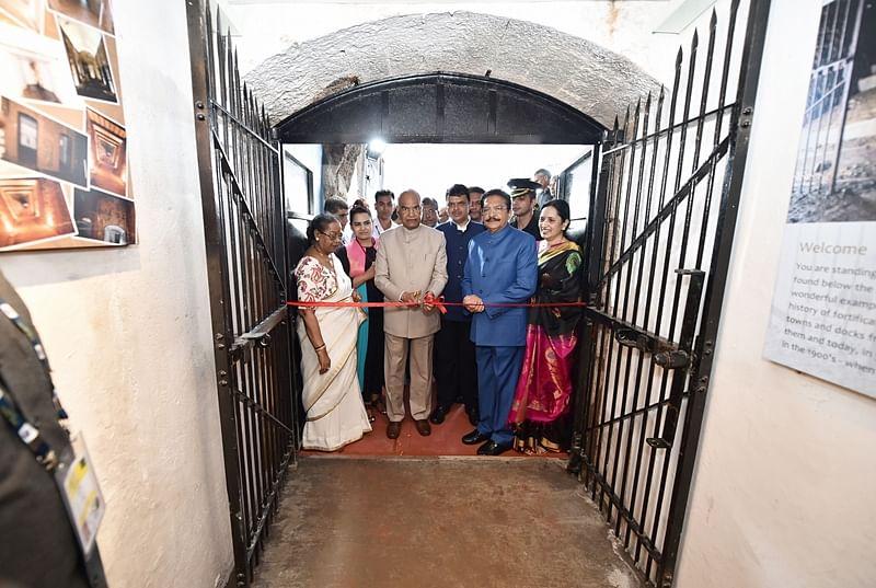 President Ram Nath Kovind on Sunday inaugurated bunker museum at Raj Bhavan