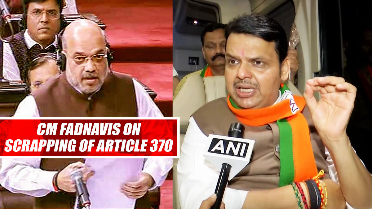 Mistake Committed By Then Modi Govt Corrected Today: CM Fadnavis On Scrapping Of Article 370