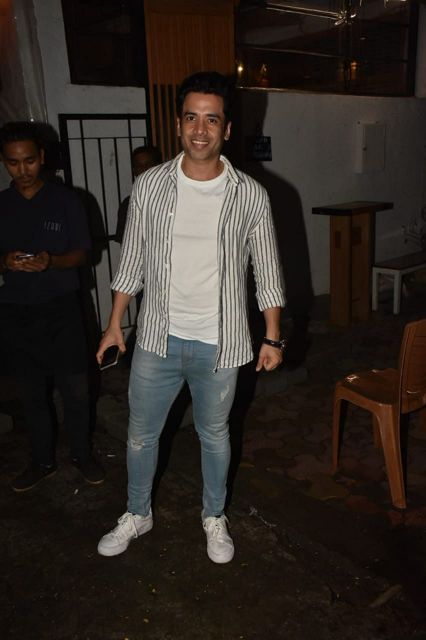 Tushar Kapoor spotted in Bandra.