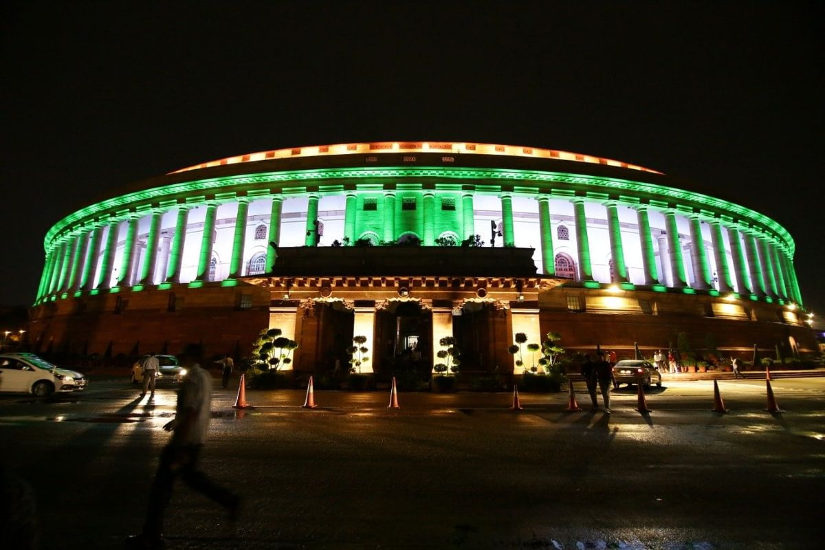 Latest News! Indian Parliament gets Dynamic Lighting Facade