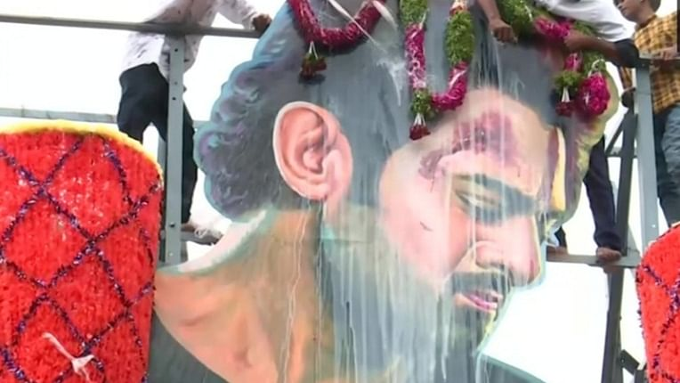 From milk bath to firecrackers, here's how fans are celebrating 'Saaho' release