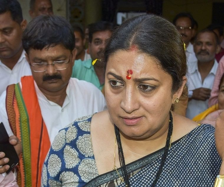 Smriti Irani recalls the promise of lunch with Sushma Swaraj