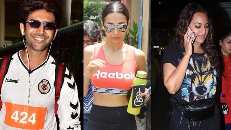 Celebrity spotting: Kartik Aaryan, Sonakshi Sinha and more return to Mumbai