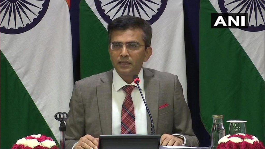 Raveesh Kumar, Spokesperson for Ministry of External Affairs.