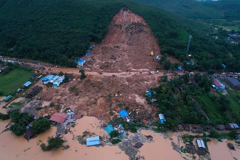 Landslide in southeast Myanmar kills at least 10 people