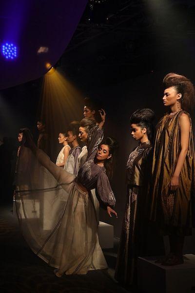 Fashion meets performance art