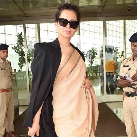 Netizens call Kangana Ranaut 'Propaganda Princess' for pairing Prada bag with sari worth Rs 600