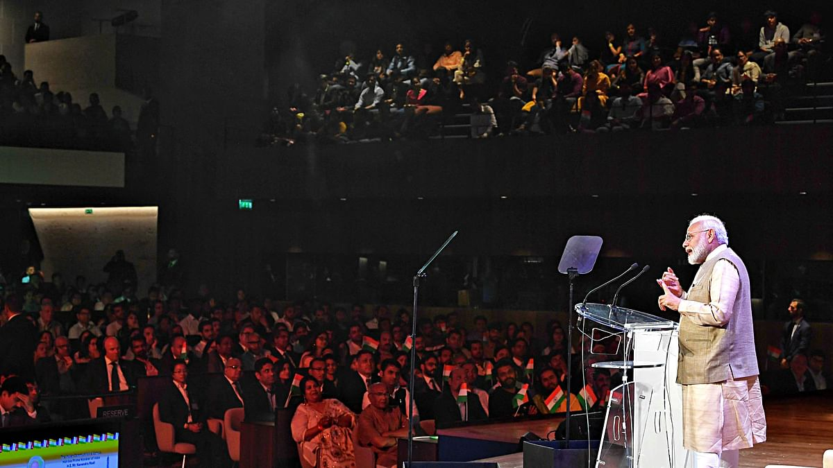 France: Prime Minister Narendra Modi addressing the Indian community, at UNESCO Headquarters in Paris on Friday