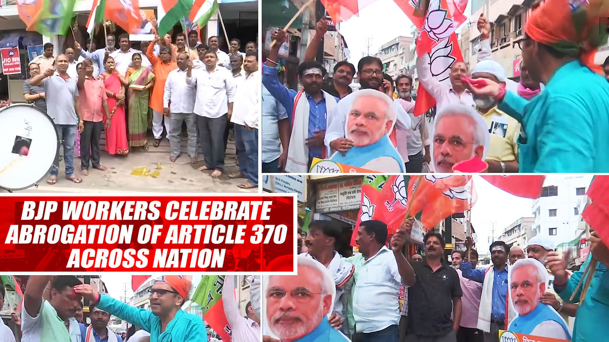 BJP Workers Celebrate Abrogation Of #Article370 Across Nation
