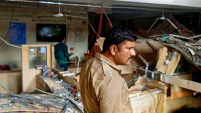 Maharashtra: 1 killed, 20 injured as roof of bank collapses in Solapur