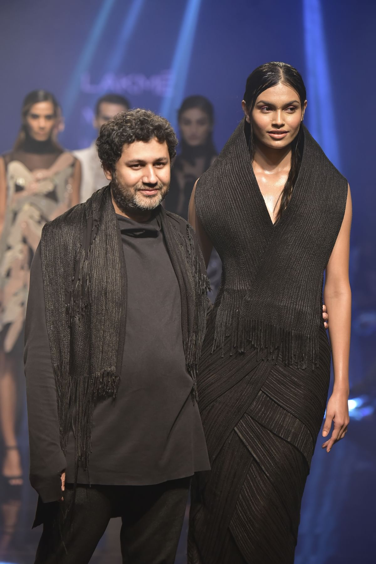 """Abhishek Sharma's collection  drew inspiration from the """"union of male and female forms in ancient Indian philosophy""""."""