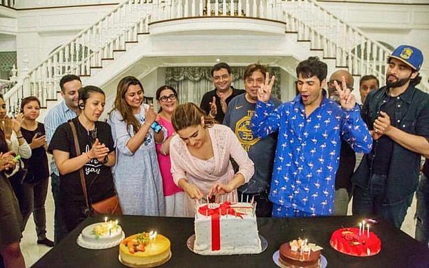 Sara Ali Khan celebrates her 24th birthday with Varun Dhawan and Coolie No 1 team in Bangkok