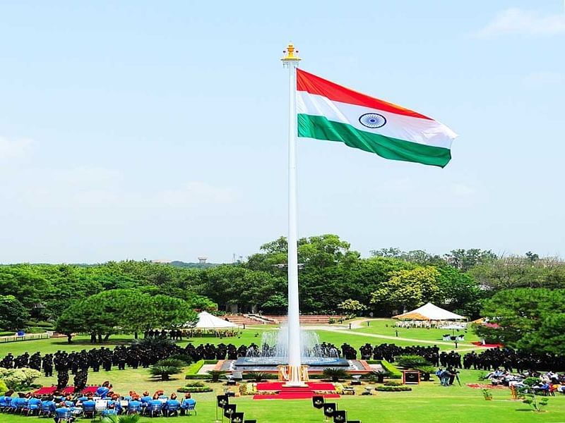Chain of flag hoisting events on August 15?