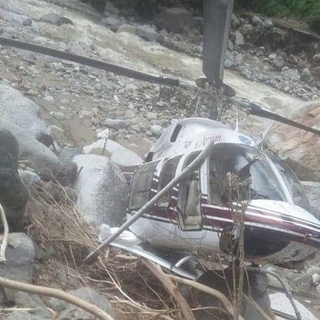 Uttarakhand: Helicopter carrying flood-relief material crash-lands in Uttarkashi