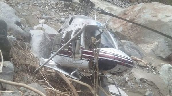 Uttarakhand: Helicopter carrying flood-relief material crash-lands in Uttarkashi