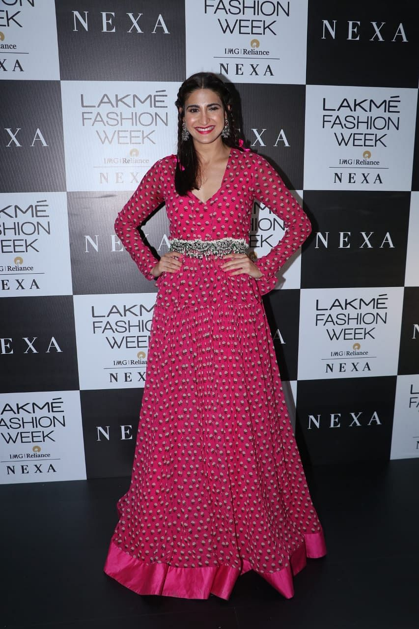 Aahana Kumra at LFW 2019
