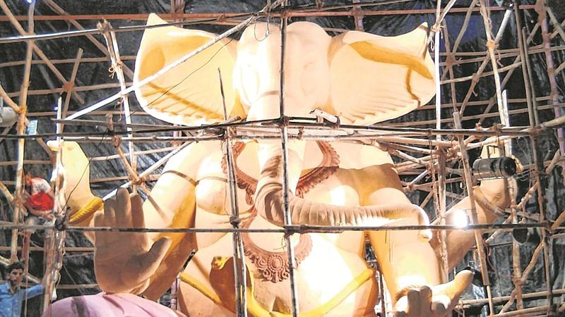 City's tallest, 22-feet eco-friendly Ganesh Idol at Lalbaugh