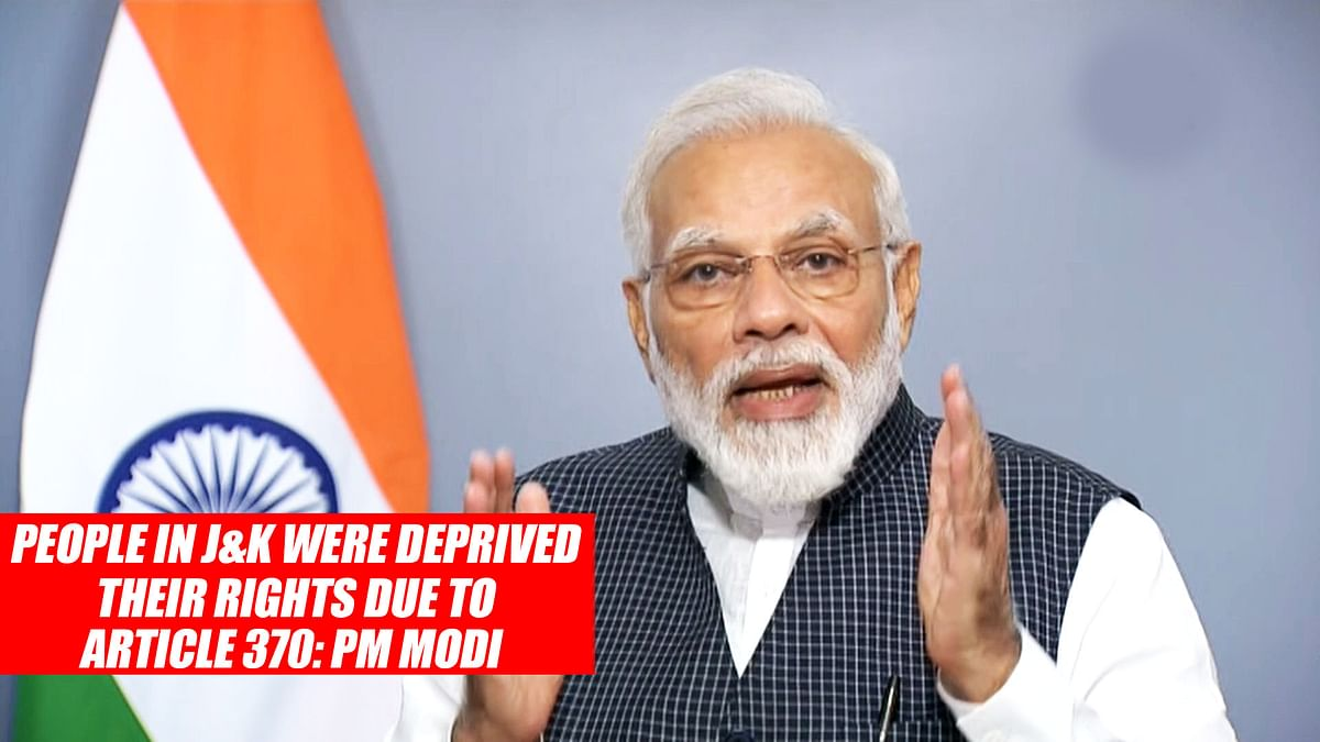 People In J&K Were Deprived Of Their Rights Due To Article 370: PM Modi