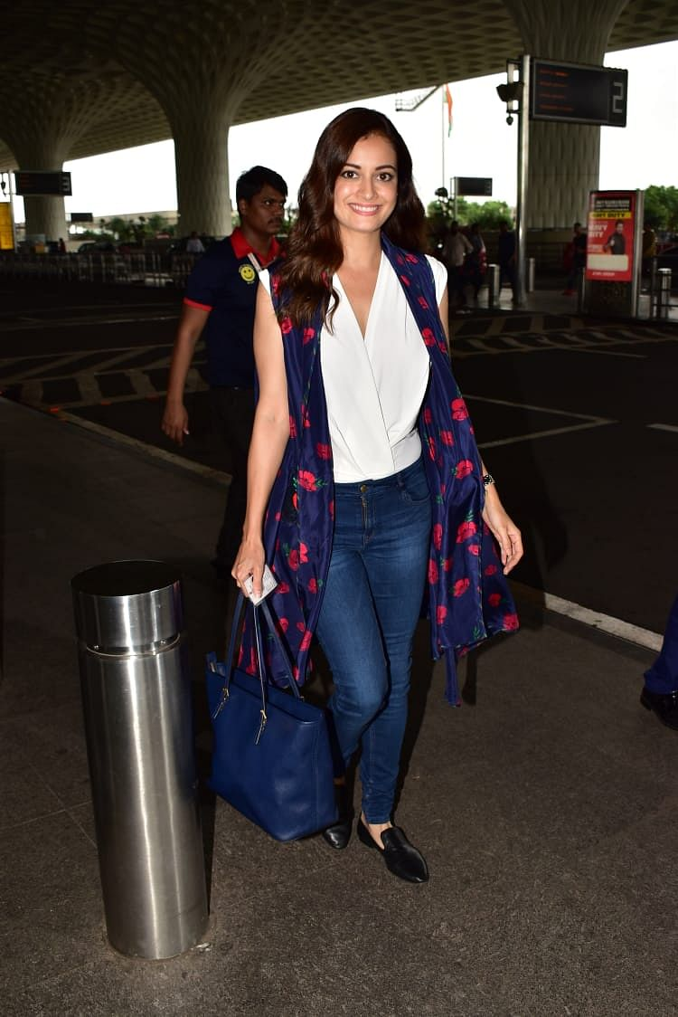Dia Mirza snapped at airport today.