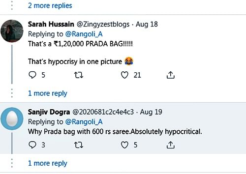 Netizens call Kangana Ranaut 'Propaganda Princess' for pairing Prada bag with sari worth Rs 600