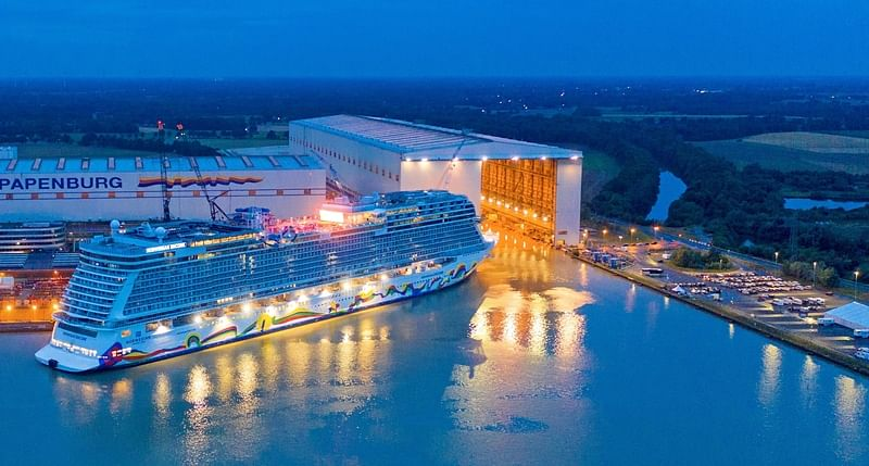 Norwegian Encore emerges from shipyard for the first