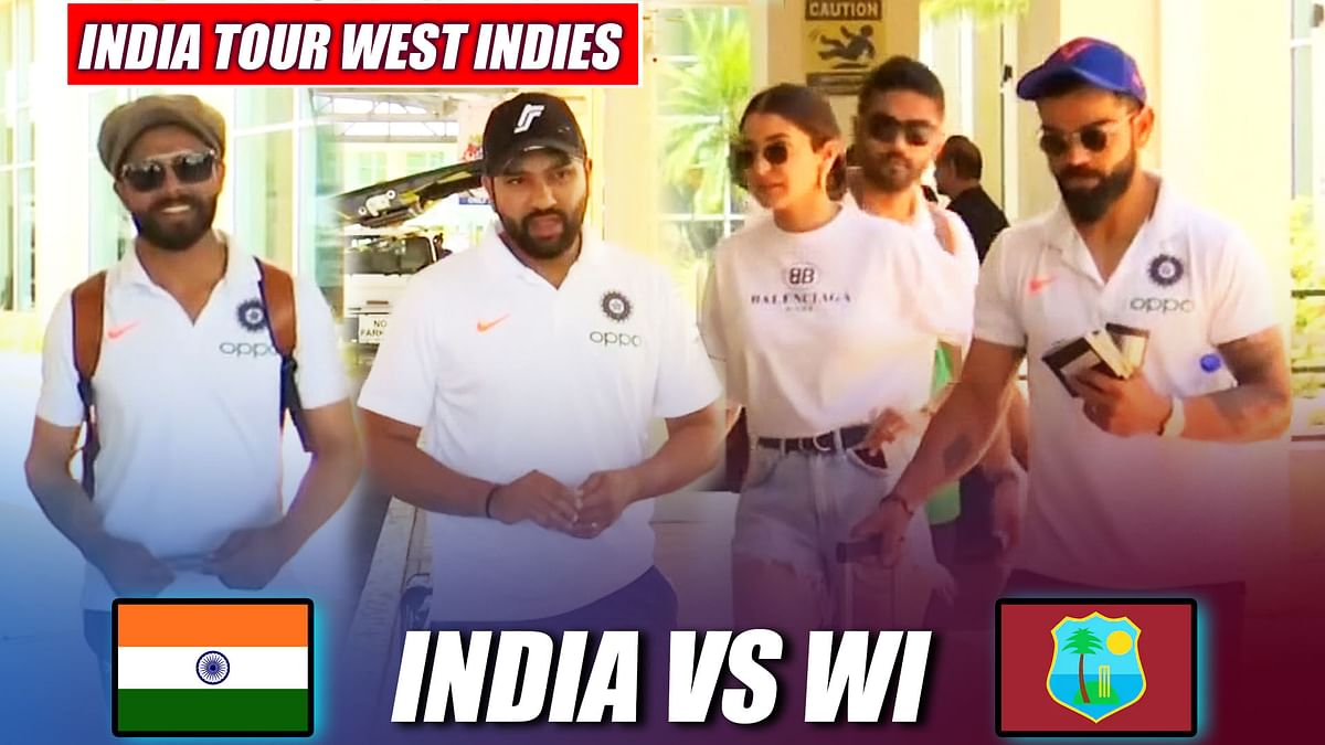 India vs West Indies: Team India Arrives In Trinidad And Tobago For Second ODI