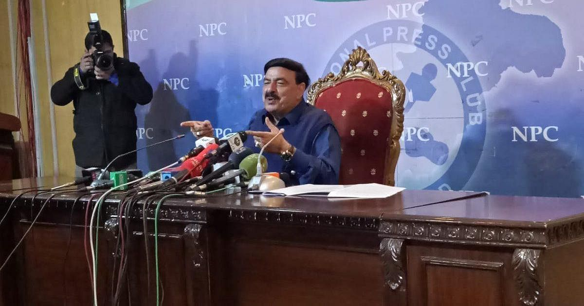 Pakistan Railway Minister Sheikh Rasheed Ahmed