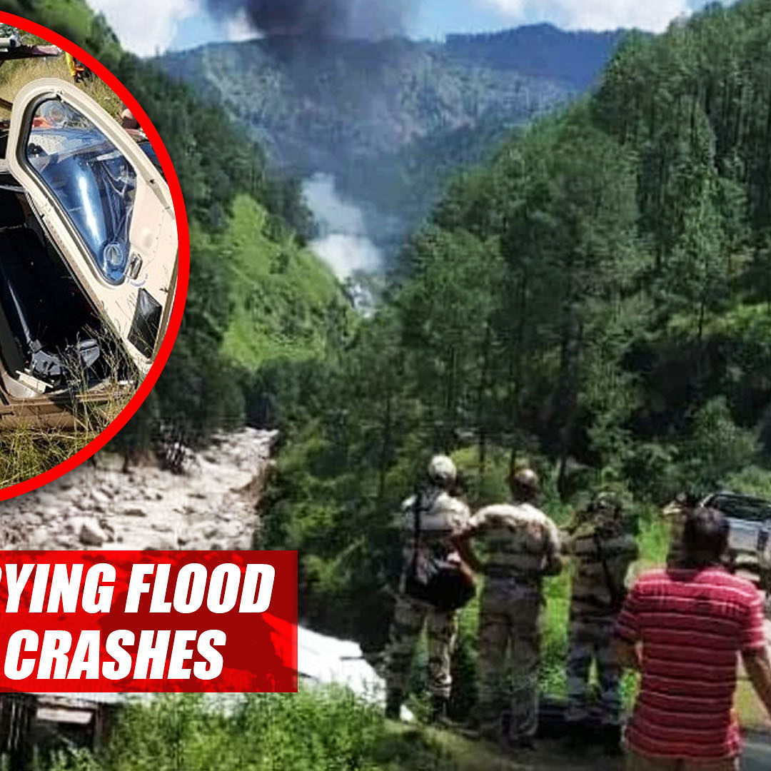 3 Die After Helicopter Carrying Flood Relief Material Crashes In Uttarakhand