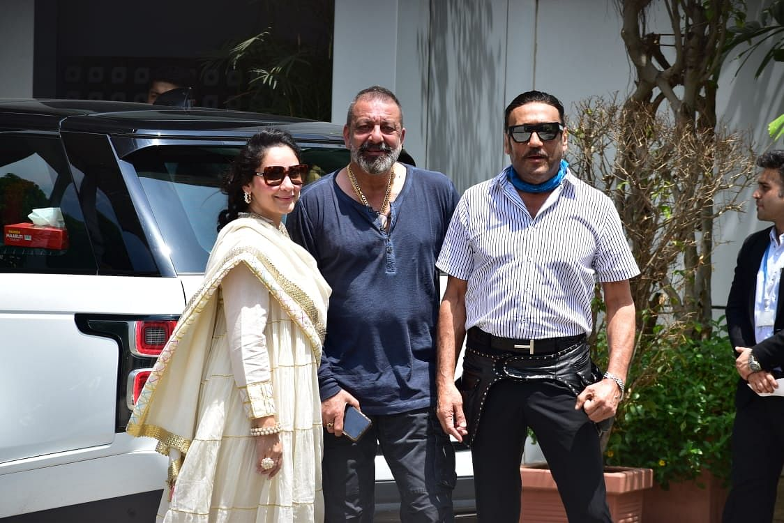 Manyata Dutt, Sanjay Dutt and Jackie Shroff