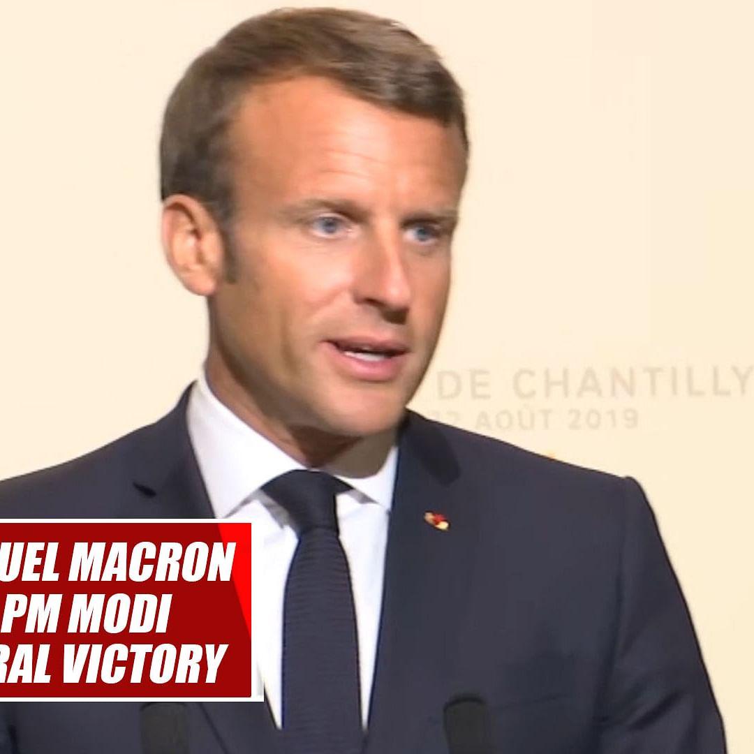 Congratulate PM Modi For His 2nd Term Electoral Victory:  President Emmanuel Macron