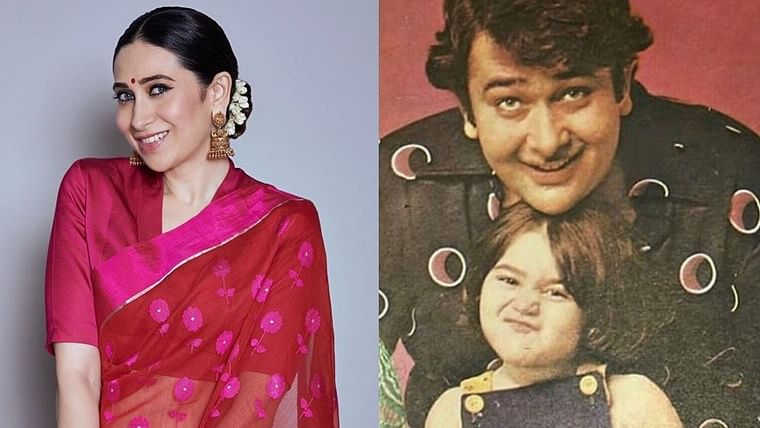 Karisma Kapoor shares a cute throwback moment with dad Randhir Kapoor