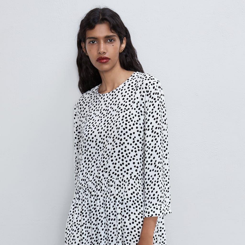 The summer sensation printed polka dots dress just saved Zara
