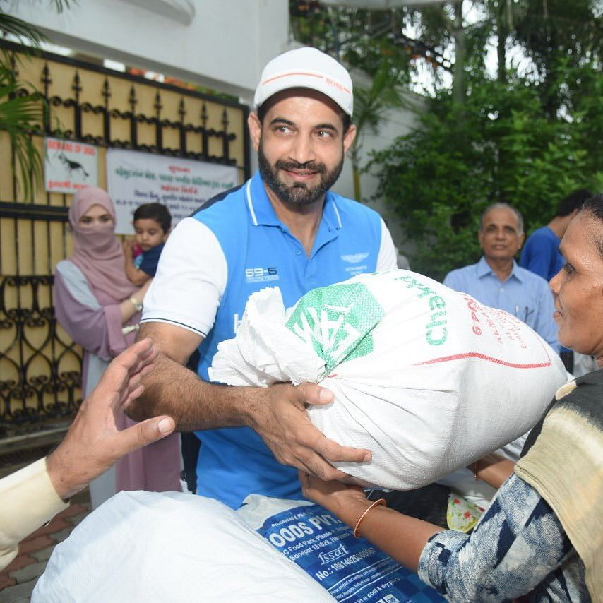 Irfan Pathan donates food to needy, says giving is a way of life