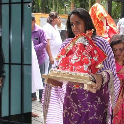 Salman Khan's family and other Bollywood stars mark Ganesh Chaturthi at his Mumbai residence