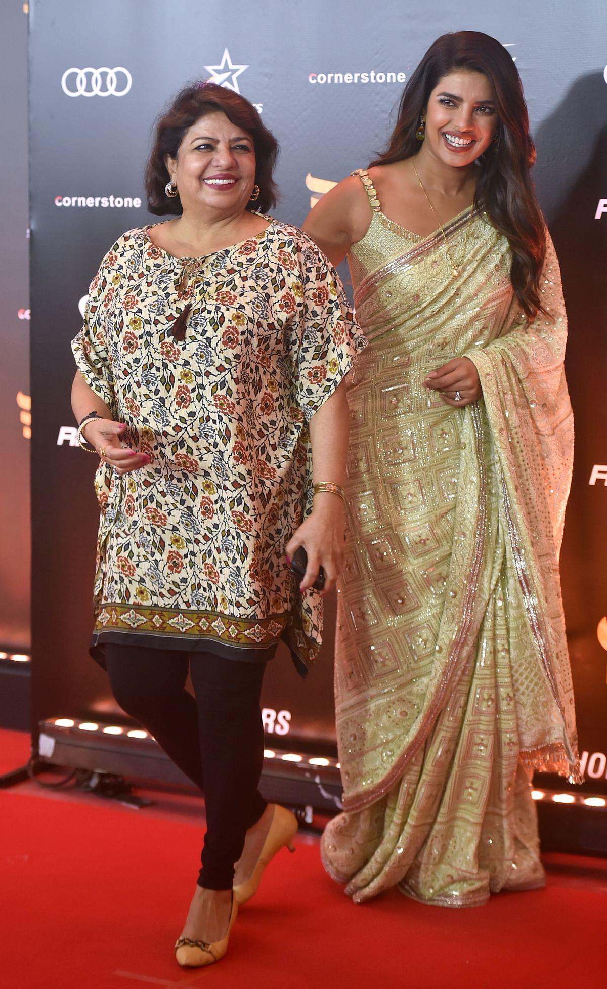 Priyanka Chopra with mom Madhu Chopra