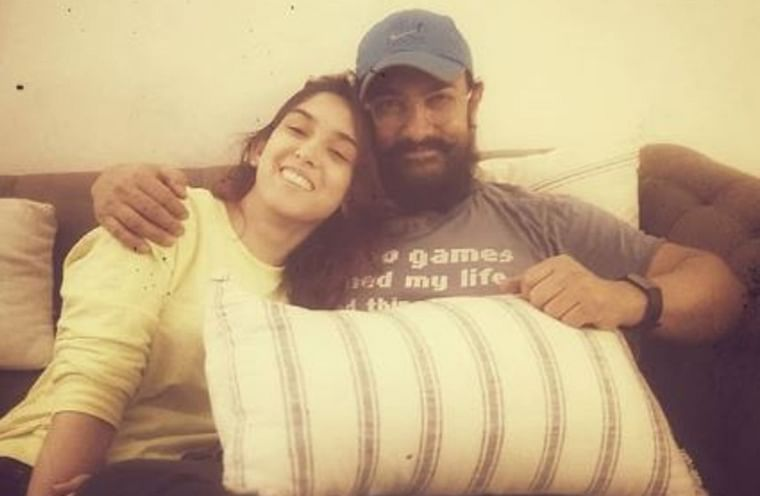 Ira Khan spends some quality time with her 'couch-buddy' Aamir Khan