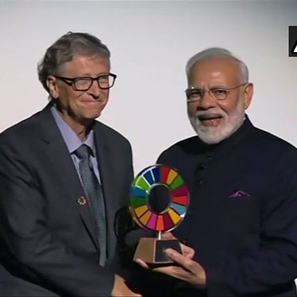 Award belongs to crores of Indians who adopted Swachh Bharat: PM Narendra Modi after receiving Global Goalkeeper Award