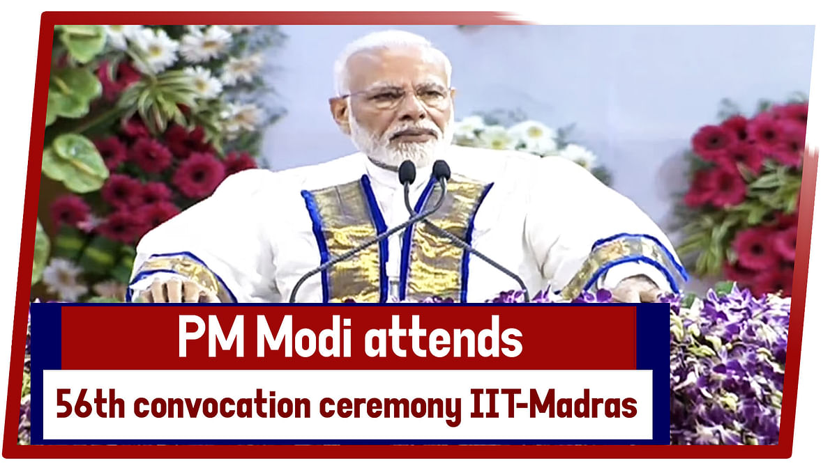 PM Modi Attends 56th Convocation Ceremony Of IIT Madras