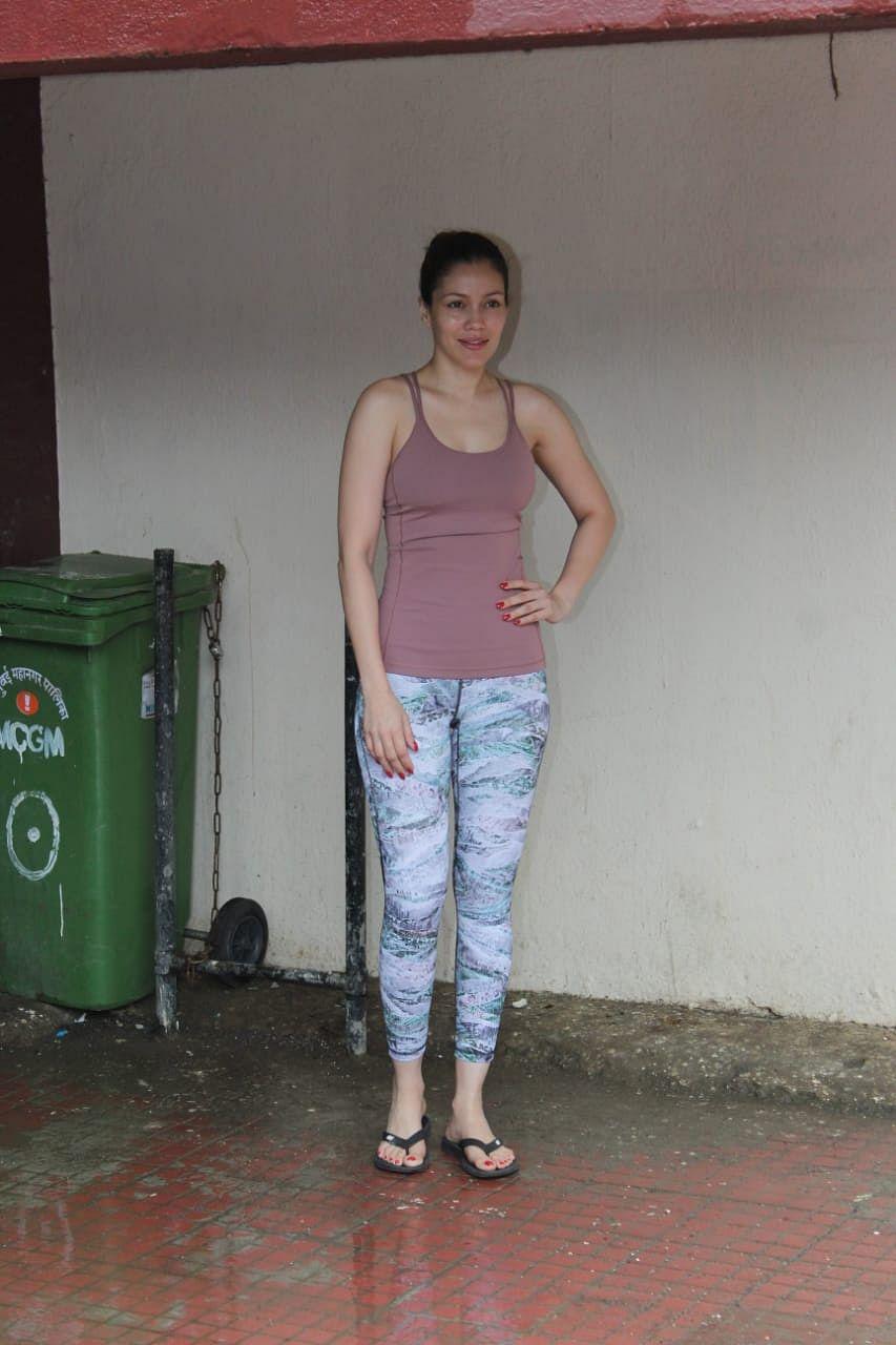Waluscha De Sousa snapped outside Pilates